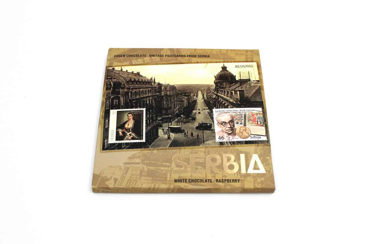 vintage postcards from serbia - BEOGRAD Bela čokolada - Malina