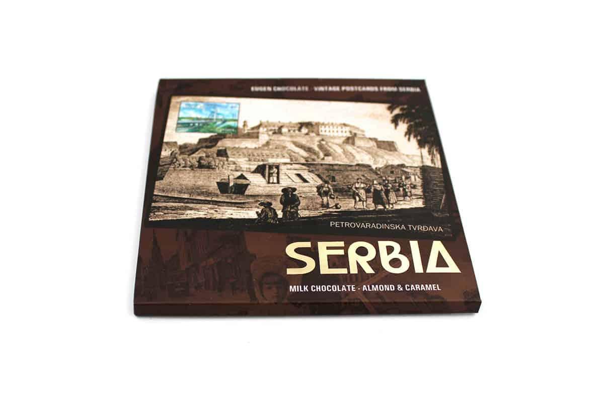 vintage postcards from serbia - NOVI SAD Mlečna čokolada - Badem & karamela