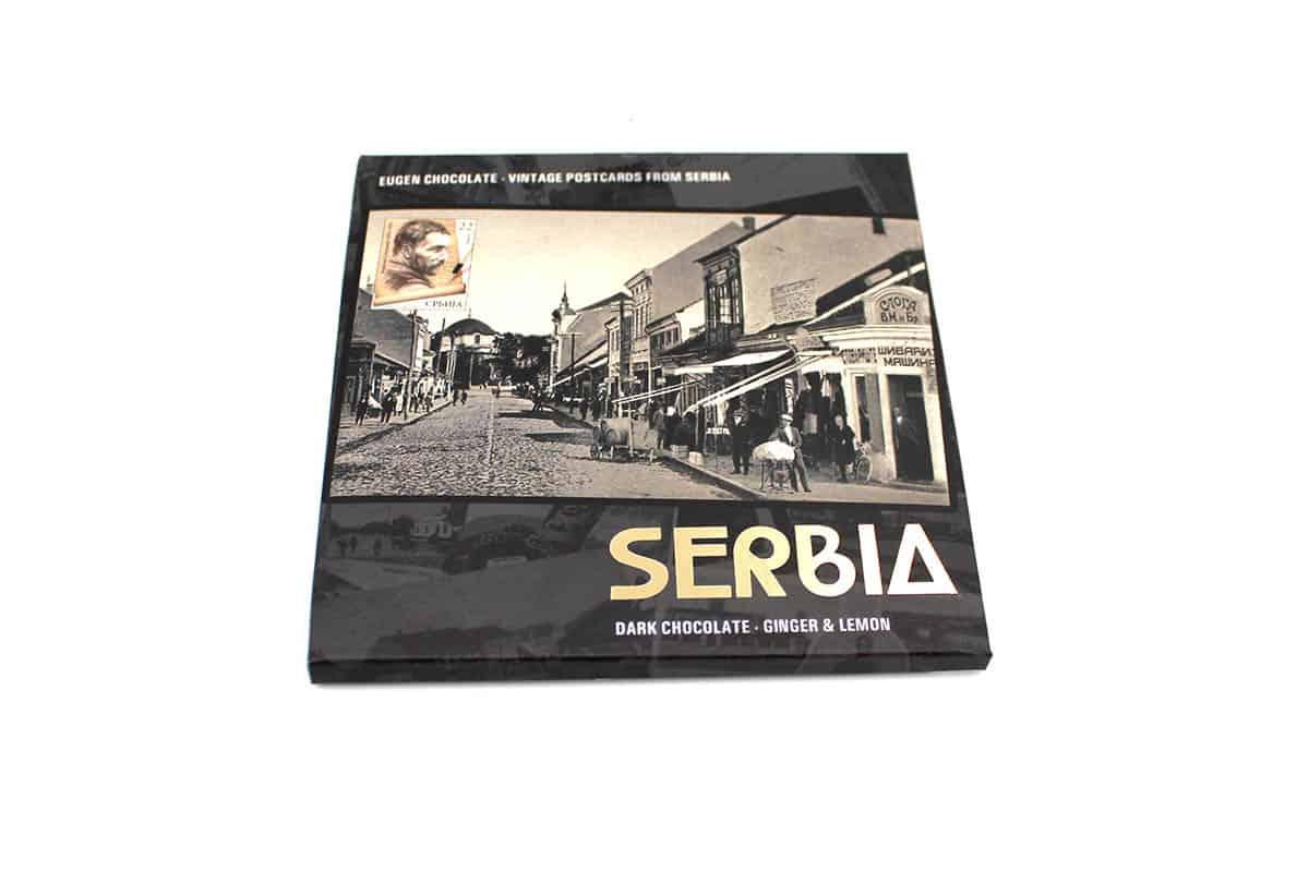 vintage postcards from serbia- STARA SRBIJA Crna čokolada - Đumbir&Limun