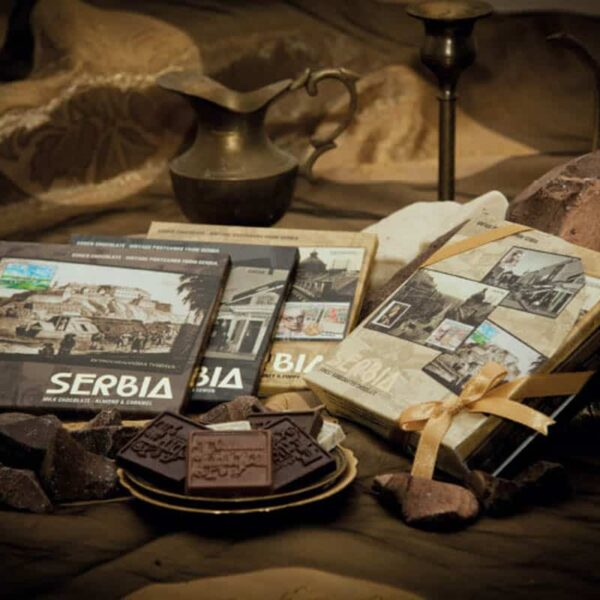 VINTAGE POSTCARDS FROM SERBIA GIFT BOX