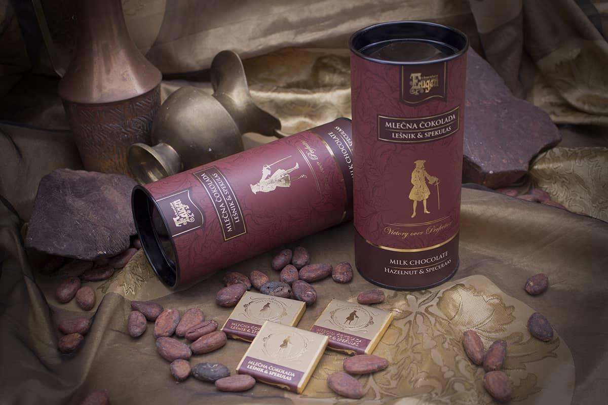 Mini Choco Tube - Mlečna čokolada - Lešnik&Spekulas