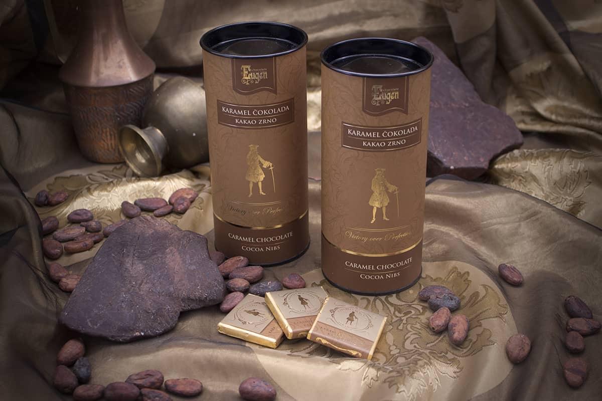 Mini Choco Tube - Karamel čokolada - Komadići kakao zrna