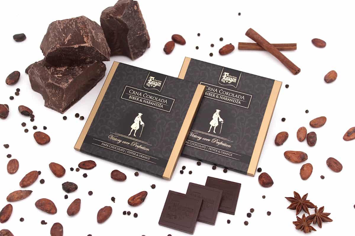 Chocolate Selection Dark Chocolate Orange Papper