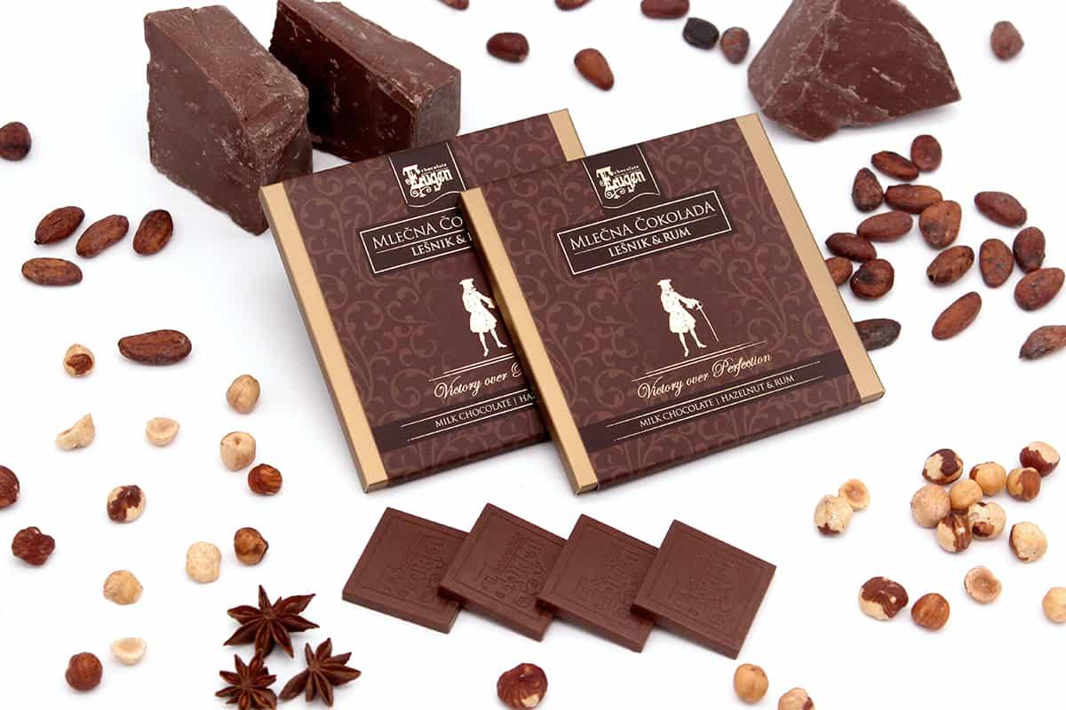 Chocolate Selection Milk Chocolate Hazelnut- Rum