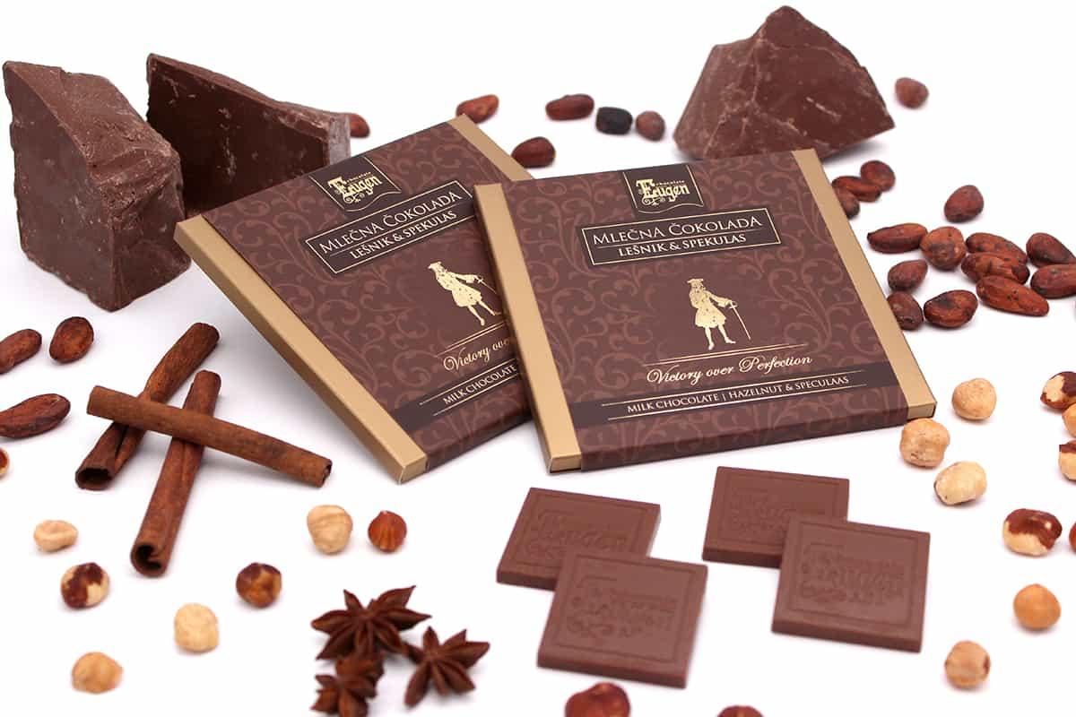 Chocolate Selection Milk Chocolate Hazelnut Speculaas