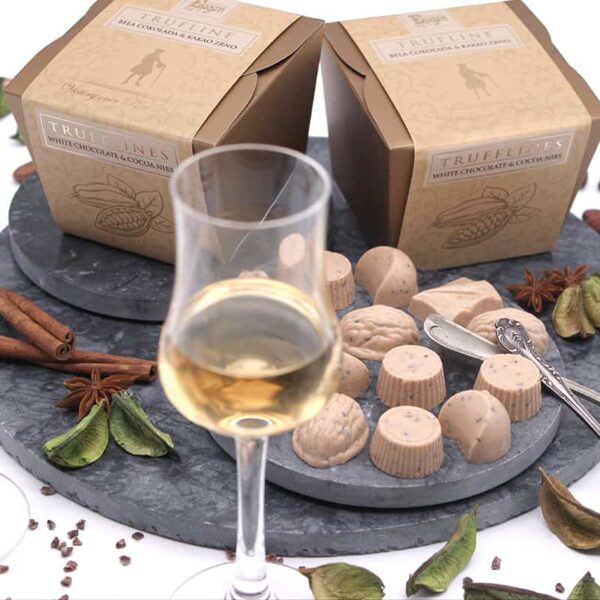 Chocolate Cubs - White trufflines